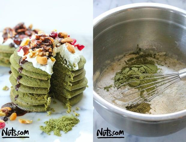 Matcha Green Tea Pancakes: The Nutty Scoop.