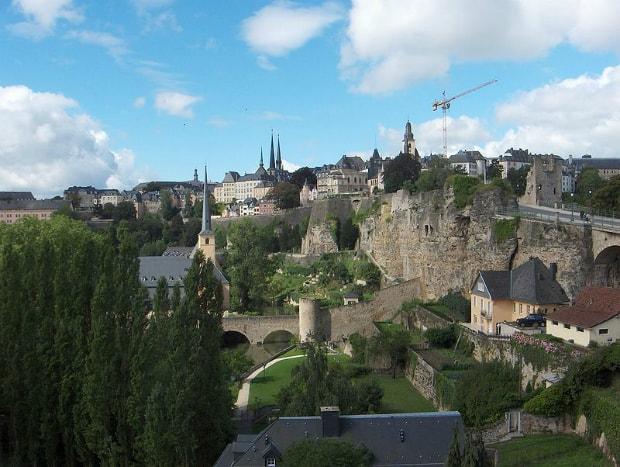 Hlavní město Lucemburk.