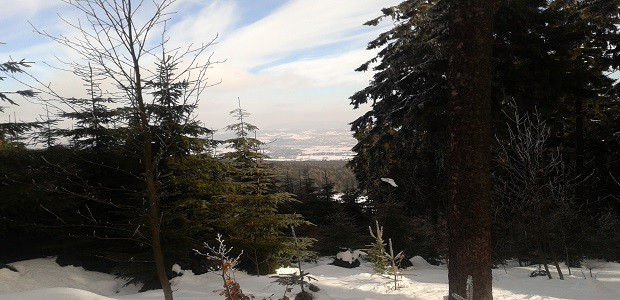 Nádherná zimní krajina.