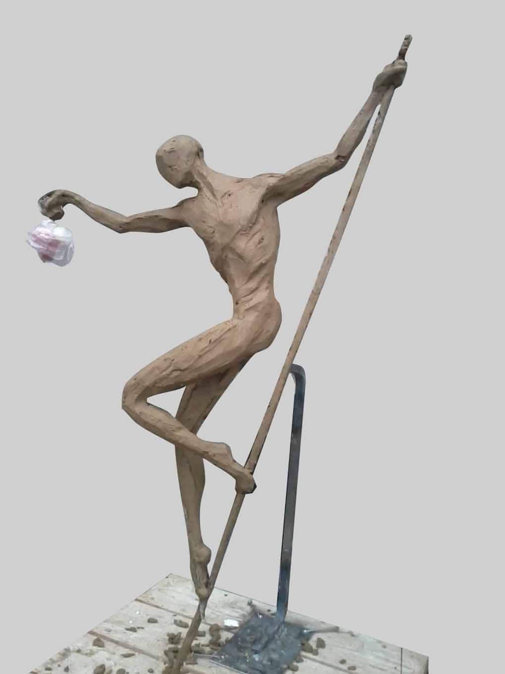 Jedna z Adamových soch.