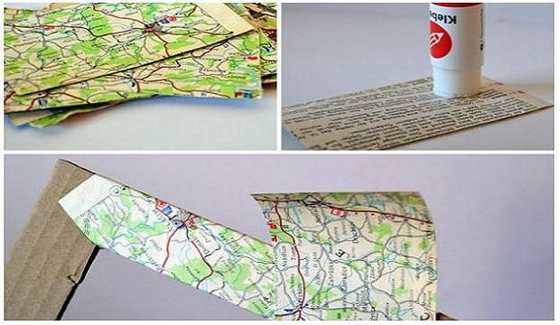 Stará mapa Povltaví už nesloužila svému účelu, využili jsme ji tedy takto.