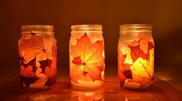 Lampičky pro romantickou atmosféru.