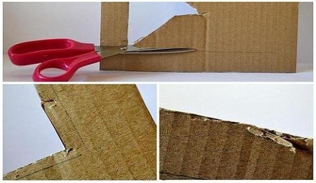Místo nůžek můžete použít také nůž, kterým to půjde snadněji.