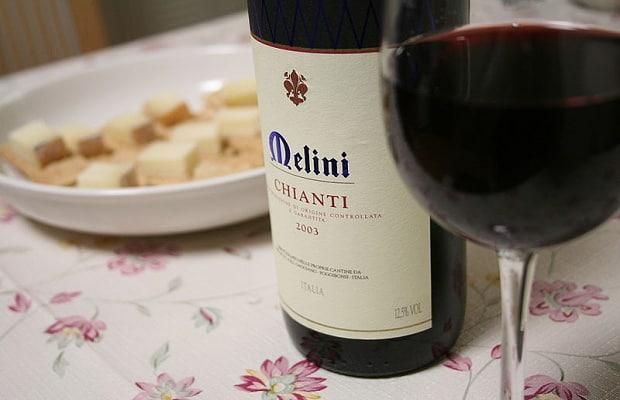 Nejznámější Toskánské víno - Chianti.