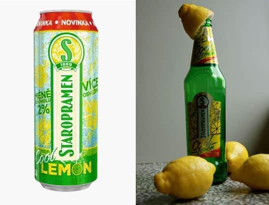 Staropramen s citrónem (první obrázek z www.alkoholia.cz).