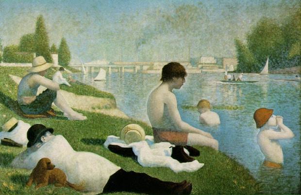 Georges Seurat - Koupání v Asnières