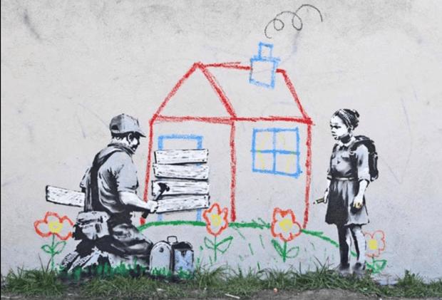 Banksyho dokreslování.