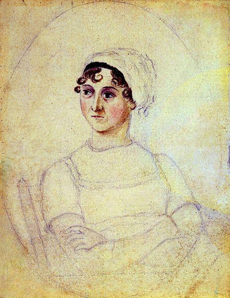 Portrét Jane Austen.