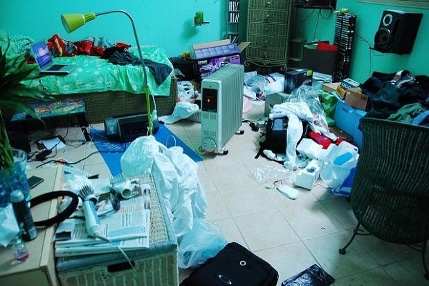 Nepořádek ve vašem pokoji může značit i nepořádek ve vašem životě.