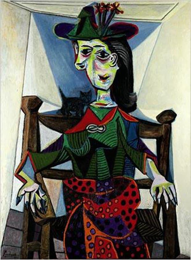 Pablo Picasso - Dora Maarová s kočkou