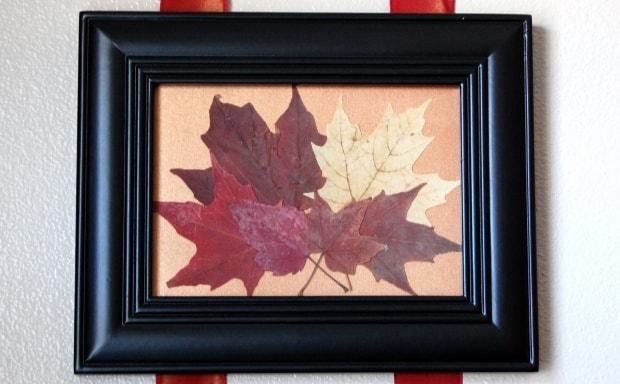 Zarámované listí působí elegantně.