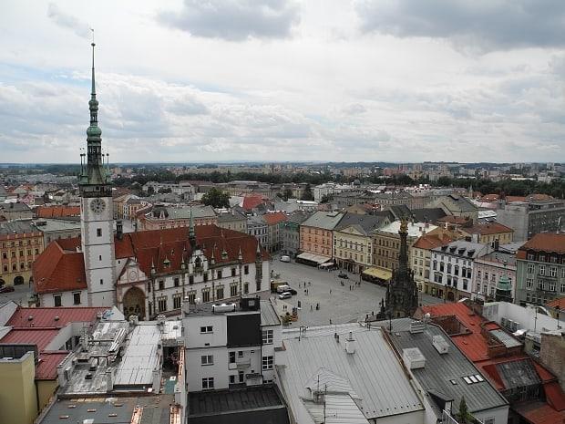 Vyhlídka z věže Kostela sv. Mořice.