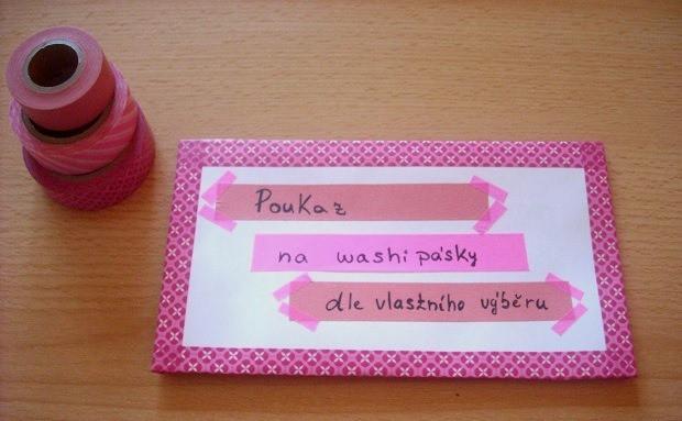 Washi pásky jsou skvělým dárkem pro kamarádku.