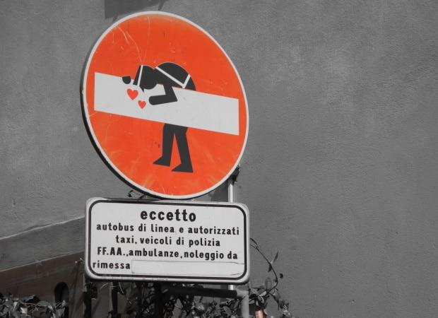 Výtvor streetartového umělce ve Florencii.