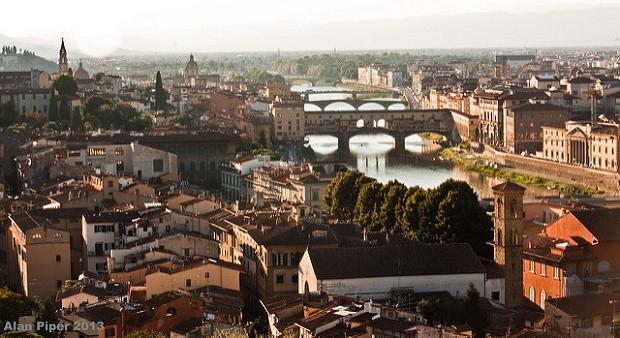 Městské panorama italské Florencie je opravdu ohromující.