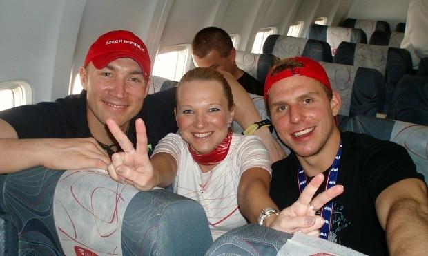 Jarmila se díky své práci setkala i s českou hokejovou reprezentací.
