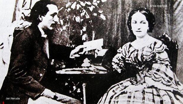 Jan Neruda a jeho první láska Anna Holinová.