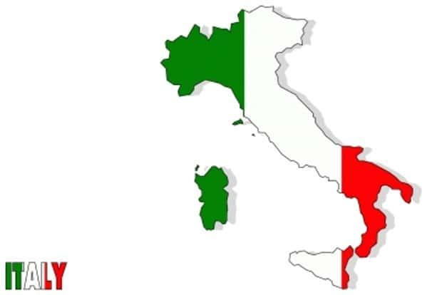 """Itálie a její """"kozačka""""."""