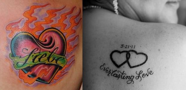 Love tattoos.