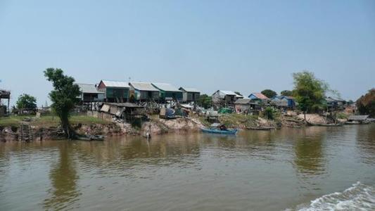 Typické kambodžské obydlí