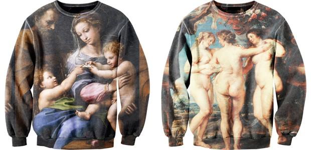 Potisk Madonna od Raphaela a Tři Grácie od P. P. Rubense.