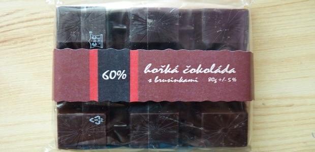 originální brusinková čokoláda