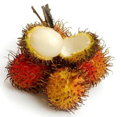 Rambutan a jeho pichlavý obal.