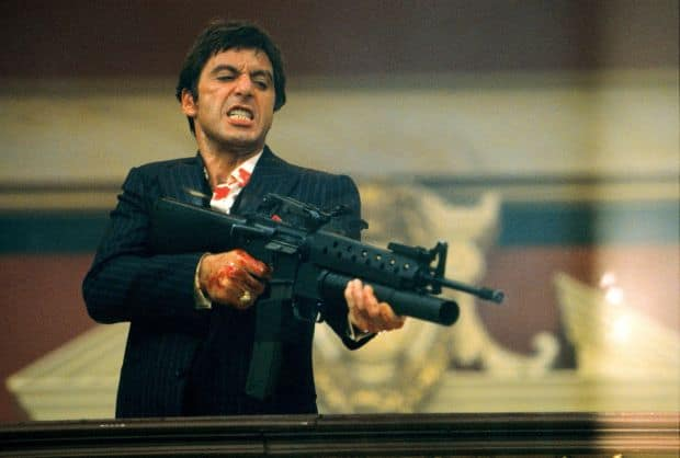 Al Pacino jako neoblomný Tony Montana.
