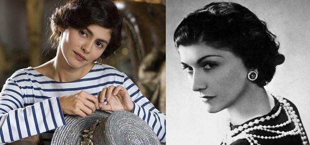 Herečka Audrey Tautou (vlevo) je skutečné Coco Chanel opravdu podobná.
