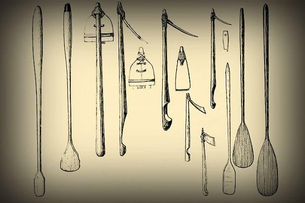 Nástroje sloužící k tatuáži.