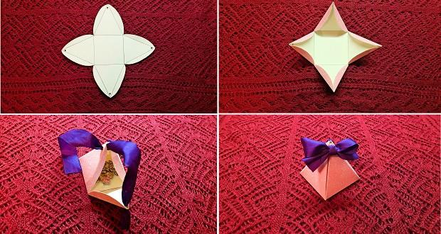 Trojhránek, do kterého můžete dát jakýkoliv dáreček.