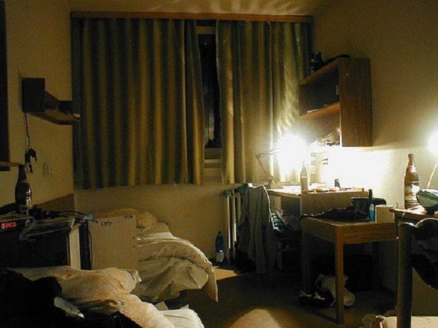 Pokoj na jedné z budov kolejí Na Větrníku.