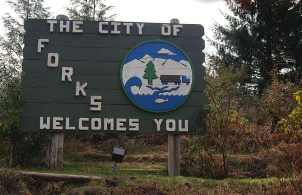 Městečko Forks není možné přehlédnout.