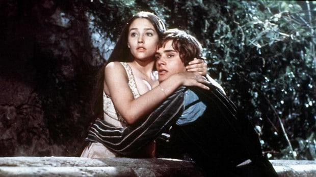 Romeo a Julie v slavném filmu Franca Zeffirelliho.