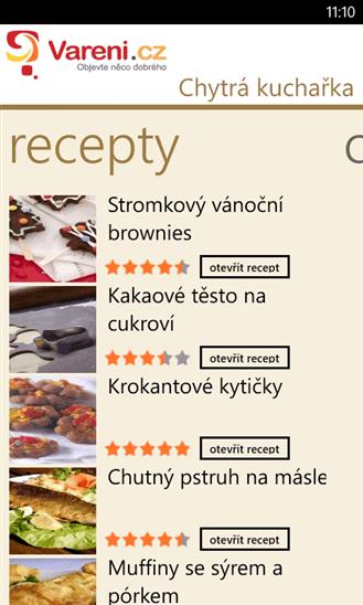 Nalezené recepty.