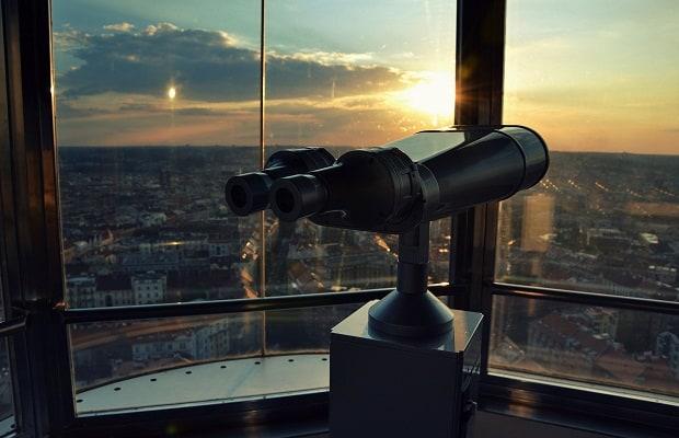 Z kabiny Zlatá Praha si můžete prohlédnout Prahu z ptačí perspektivy.