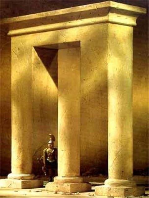 optická iluze brána
