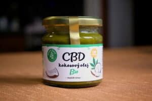 Test CBD zelena zeme s kokosovým olejem