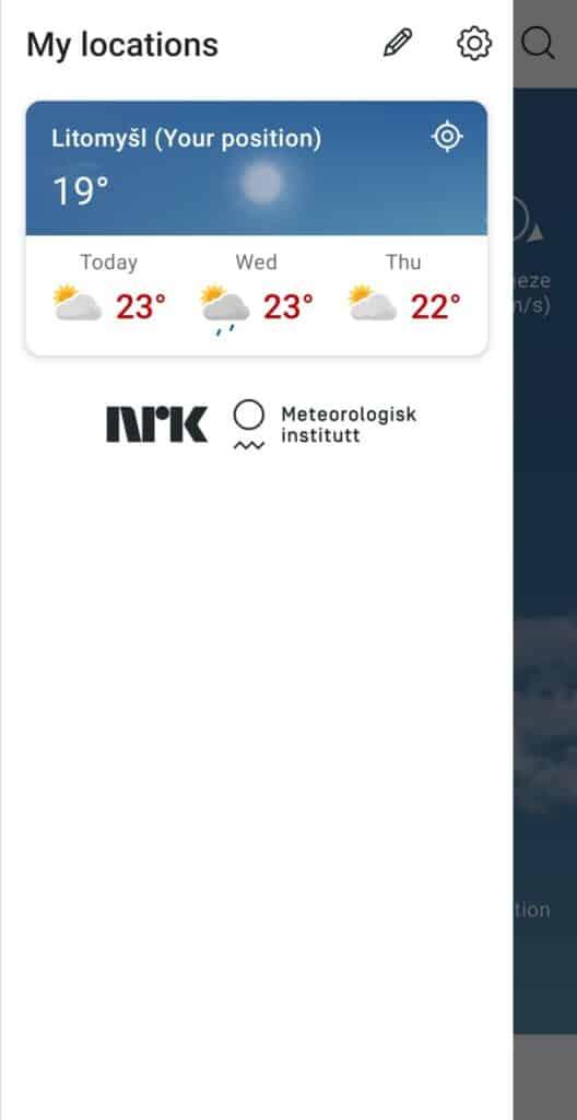 aplikace na předpověď počasí YR recenze